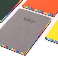 彩色皮面笔记本 随身便携创意潮流大小彩页记事本 学生办公用
