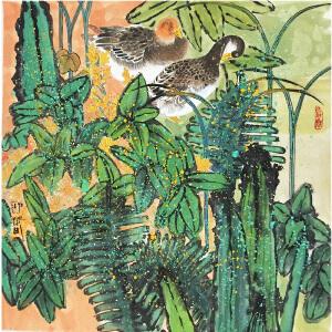 张迎春《花鸟》著名画家