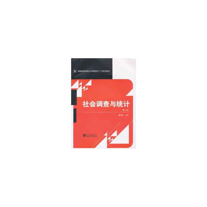 [二手旧书9成新],社会调查与统计(第二版),董海军,9787307100886,武汉大学出版社