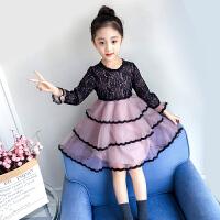 女童连衣裙秋装儿童春秋洋气长袖公主裙蕾丝裙蓬蓬纱裙子