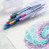 勾线笔套装 针管笔 18 26色描线笔工笔画绘图笔绘图笔学生用美术