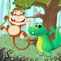 小嘴鳄鱼和大嘴猴子2