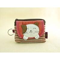 QQ猫零钱包硬币包散纸包钥匙环女用小包包实用口袋包创意设计韩版