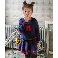 童装儿童裙裤两件套字母秋冬装休闲童装女童卫衣套装
