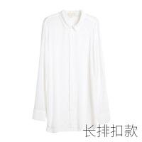 2018新款白色�r衫睡衣女冬�L款性感睡衣情�{衣人男友�L透明薄�可外穿胖mm