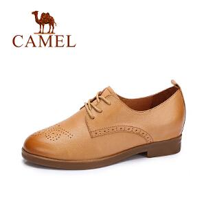 camel/骆驼女鞋  秋季新款 英伦风单鞋女 复古学院风鞋雕花百搭单鞋