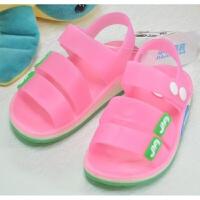夏季新款男童女童塑料凉鞋防水小孩儿童水晶1果冻鞋3-5岁宝宝凉鞋