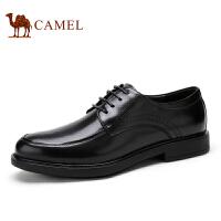 camel骆驼男鞋 秋冬新品商务休闲 英伦风牛皮系带低帮男士皮鞋