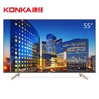 康佳(KONKA)LED55P6U 55英寸64位4K HDR智能平板液晶电视机(黑色)
