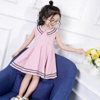 童装女童连衣裙 儿童公主裙8韩女孩海军风裙子