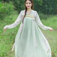 新款女装古装改良汉服女齐胸襦裙学生装毕业照日常汉服中国风套装 上衣+裙子