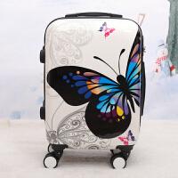 拉杆箱女可爱卡通小清新大学生印花涂鸦行李箱24寸万向轮个性箱子