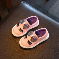2018春秋新款女童鞋公主皮鞋儿童鞋子单鞋宝宝鞋一脚蹬女孩豆豆鞋