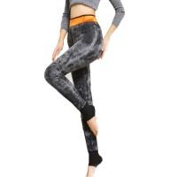 秋冬季高腰打底裤女外穿加绒贴身保暖修身护膝黑色长裤子