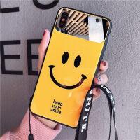 苹果x壳女iPhone X MAX带挂绳挂脖6s全包防摔6镜面情侣款xr 软硅胶个性创意7p潮牌保护 iPhone X