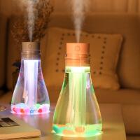 【好货优选】舞阳万代跨境新款许愿瓶迷你加湿器usb创意小型空气加湿器用礼品 透明