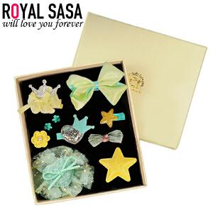 皇家莎莎儿童发饰套装宝宝发夹礼盒韩国版女孩头饰品儿童节日礼物