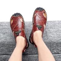 凉鞋男潮2019新款休闲大气商务凉鞋防滑男士拖鞋沙滩鞋夏季韩版凉拖透气两用人字拖时尚外穿