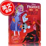 现货 冰雪奇缘2 英文原版儿童纸板触摸书 触摸森林 迪斯尼同名电影暗影森林 Disney Frozen 2: Touc