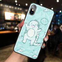 小恐龙苹果7plus手机壳iPhone XR可爱卡通苹果X菱形钻石纹XSMAX网红女款8plus个性
