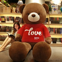 泰迪熊熊猫公仔1.6大号抱抱熊布娃娃女孩2米大熊熊送女友