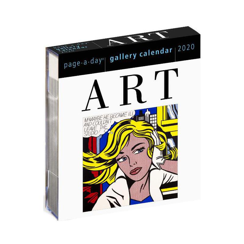 【现货】英文原版 2020年画廊日历:艺术 进口台历  办公室桌面摆件(亚克力) 精美装帧 新年礼物 Art Page-A-Day Gallery Calendar 2020 国营进口!品质保证!