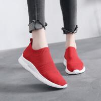 女鞋运动鞋女学生2019夏款透气休闲鞋女韩版健身跑步鞋女一脚蹬套脚懒人鞋