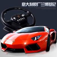 环奇方向盘遥控车兰博基尼儿童遥控汽车玩具跑车漂移高速充电大型