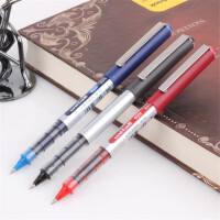 三菱水笔UB-150 直液式走珠笔 耐水性签字笔大容量0.5/0.38中性笔