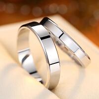 情侣戒指男女对戒 学生简约创意指环
