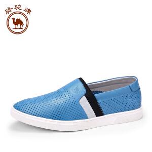 骆驼牌男鞋 春季新品男士 日常休闲皮鞋套脚鞋子