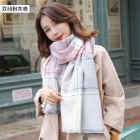 羊毛围巾女秋冬季保暖春秋季格子长款披肩羊绒围脖潮