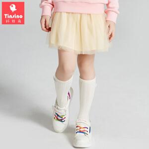 【1件3折价:47.7】纤丝鸟(TINSINO)女童纱裙儿童夏季短裙中大童裙子