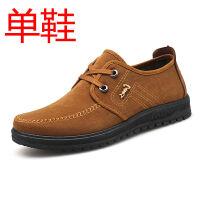 老北京布鞋男款春夏套脚鞋散步休闲鞋厚底男鞋子中老年爸爸鞋