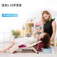 椅子 儿童洗头椅宝宝洗头床小孩洗头躺椅洗发椅可折叠加厚加大椅子 创意家具