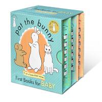 Pat the Bunny: First Books for Baby 拍拍小兔子3本盒装 让孩子触摸到世界的质感 P