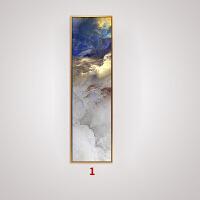 现代中式装饰画禅意云雾挂画客厅大气四条屏墙画 宽cm-高70cm 典雅黑色框 拼套