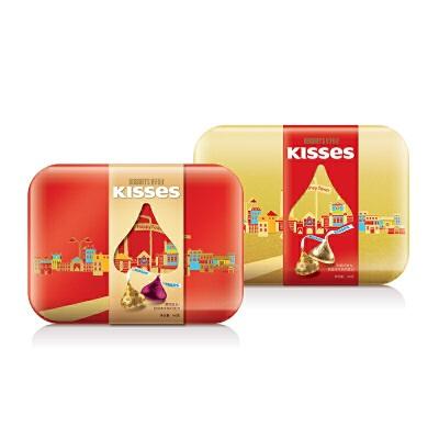 【当当自营】好时巧克力 礼盒160g盒装 黑巧克力口味/巴旦木牛奶朱古力口味质保期:18.03 口味随 机发货 可备注口味