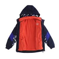 大男童冲锋衣秋冬装户外中大童三合一两件套儿童外套