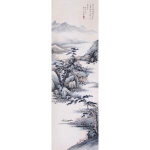 讲师,书画家    吴镜汀《溪山幽居图》
