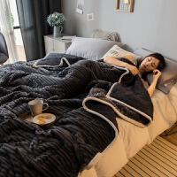 三层珊瑚绒毯子冬季羊羔绒毛毯被子加厚保暖双人单人学生宿舍盖毯 200*230cm(绒感细腻 加厚保暖)