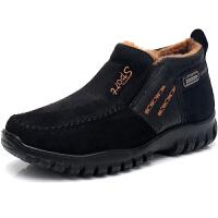 冬季老北京布鞋男棉鞋中老年人加绒加厚保暖爸爸鞋防滑老人休闲鞋
