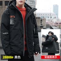 №【2019新款】冬天年轻人穿的羽绒服男士韩版潮流短款加厚ins国潮修身休闲外套男 2X