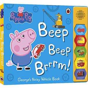 小猪佩奇 英文原版绘本 Peppa Pig Beep beep brrrm 粉红猪小妹佩琪 交通知识 生活常识 纸板发声书