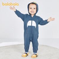 【品类日2件6折】巴拉巴拉婴儿外出服新生儿衣服宝宝连体衣爬爬服0-3个月造型萌趣春秋