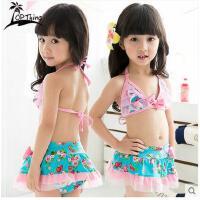 中大童女童游泳衣儿童裙式蕾丝女孩可爱泳衣公主韩国分体比基尼可礼品卡支付