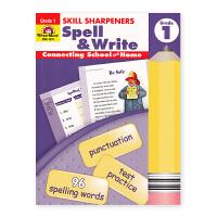 Evan-Moor Skill Sharpeners Spell & Write Grade 1 小学一年级英语拼写练习