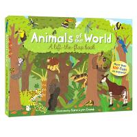 Animals of the World 动物世界 儿童科普百科 英语翻翻纸板书 英文原版图书进口