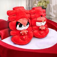 婚庆用品创意压床娃娃一对结婚礼物抱枕毛绒公仔婚房布置
