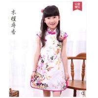 纯棉儿童旗袍女童古琴古筝表演演出服 中国风唐装裙子儿童服装支持礼品卡支付